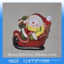 Новогоднее украшение керамическая фигурка снеговика