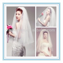 Simple Two-Layer Wedding Veils in Stock 90cm Short Ivory Wedding Veil 2015 Hot Sell (TS-1030)