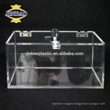 Jinbao Transparent Acrylic Storage Box Hot Selling Clear Acrylic Organizer Box