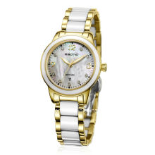 Fashion Diamond Staiinless Steel with Ceramic Grains Ladies Watch