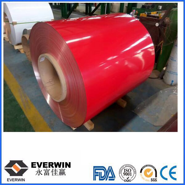 red coated aluminum coil