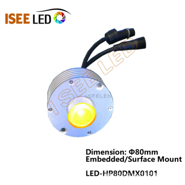 3W 80mm Round Led DMX Pixel Light