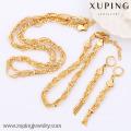 Sistemas de la joyería del oro 63604-Xuping, sistema de la joyería de cobre amarillo de la moda con el oro 18K plateado
