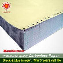 Impresión de libro de factura duplicada autocopiante sin carbono