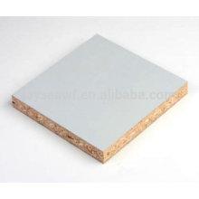 4 * 8 placa de partícula laminada de melamina branca para móveis