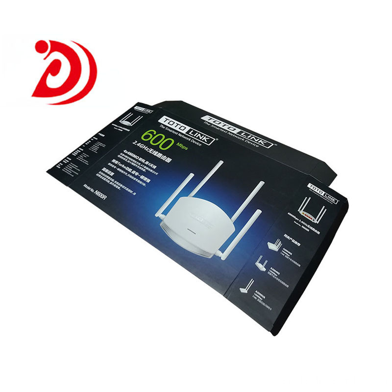 Wireless router color box packaging