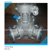 Asme A216wcb Flanged Carbon Steel 3-Way Ball Valve