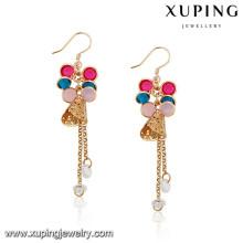 92145 Xuping Jewelry boucles d'oreilles en plaqué or design coloré