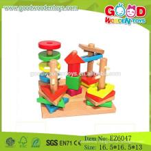 Hot Sale Wooden Geometric block Set,Sorting Board Toy,Kids Wooden Shape Block