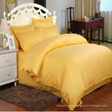 Solid Color Satin Stripe Bedding Sets in Stock for Hotel (DPF1063)
