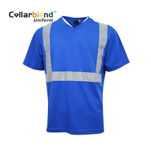 T-shirt polo bleu Safety Hi Vis