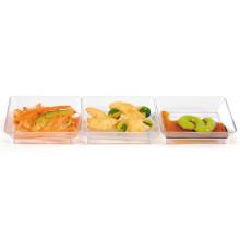Plato de plástico plato desechable plato de cena dividido