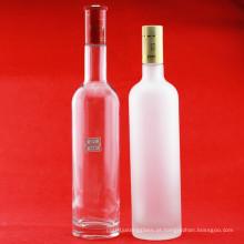 Fabricante 750ml 1000ml 1750ml Garrafas de Vidro Garrafa de Vodka de Luxo Super Flint Garrafas de Vinho de Vidro