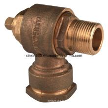 Válvula de bronce giratoria de bronce