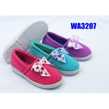 Kids' Bow Glittery Knitted Winter Outdoor Slippers