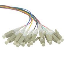 12 жил LC Многомодовый, мм 62,5 / 125 Волоконно-оптический кабель для вентилятора Кабель Pigtail