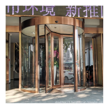 China supplier customized 3-wing hotel automatic glass revolving door