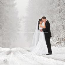 Комфортное светлое роскошное свадебное платье в европейском стиле