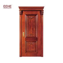 Portas de madeira maciça de madeira da porta de entrada da porta principal do carvalho vermelho de América