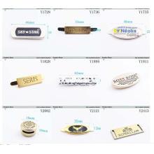 Private Custom Bekleidungsmarke Metall Tag mit eingraviertem Markenlogo