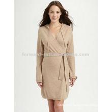 fashion 100% pure cashmere robe