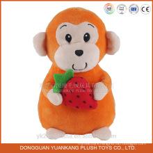 Chinese new year 2016 plush toy monkey with strawberry