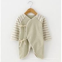 Nature Organic Cotton Baby Striped Romper