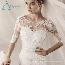 Sweep Train Half Sleeve Mermaid Wedding Dress Appliques