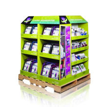 Punto de venta Corrugated Display Racks, Cartón Pale Display Stand