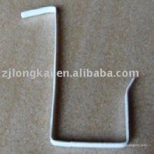 Gancho de alambre de acero seguro plateado del tipo de L para la exhibición del supermercado