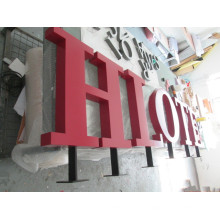 Cartas de canal de metal al aire libre modificadas para requisitos particulares calientes del acero 3D