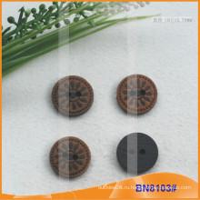 Естественные деревянные кнопки для одежды BN8103