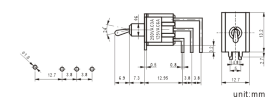 MTS-202-C4-1 toggle switch