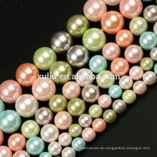 6 MM 8 MM 10 MM Rosa Multicolor Shell Perle Runde Edelstein DIY Schmuck Machen Perlen