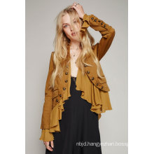 Military Inspired Cropped Wool Fashion Jacket