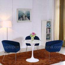 Искусственный мрамор Тюльпан стол и ткань кресло (СП-CT839)