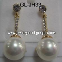 perla de la cáscara de las mujeres pendientes