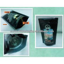 Saco de café por atacado com válvula unidirecional / selo de reforço lateral / folha de alumínio saco de plástico 340g / 12 oz