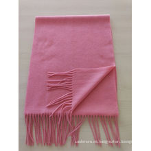 mezclar 50% cachemira 50% lana llanura media bufanda roja