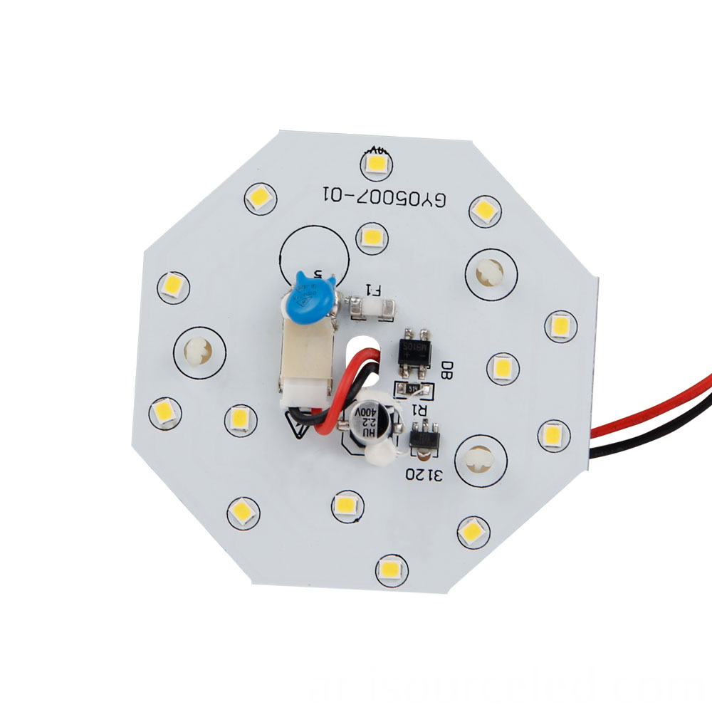 Warm white light 5W LED ceiling light module front view