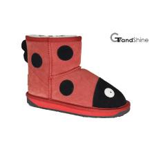 Kid′s Cow Suede Mini Boot Ladybird