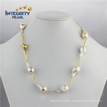 AA 19inches 11-15mm Edison Nucleated Pearl Freshwater Wholesale Pearl Necklace