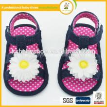best selling polka dots soft sole pre-walker with flower girl baby sanda