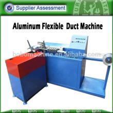 Flexible metal duct machine