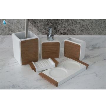 luxury bathroom full set accessories royal soap-dish and foam soap dispenser