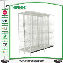 Gondola Shelf Supermarket Display estantería con cesta de alambre