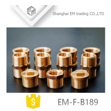 EM-F-B189 Encaixe de tubulação de latão de rosca macho