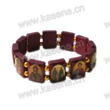 Heißes Verkaufs-hölzernes Heiliges heiliges Rosenbeet-Armband