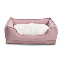 Attractive Price New Type Soft Plush Fur Non-skid Bottom Pink Dog Pet Bed