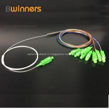 Diviseur de fibre de PLC de tube en acier 1x8